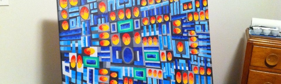 Lawrence's TV, 20 x 30 inches, acrylic on canvas, 2012