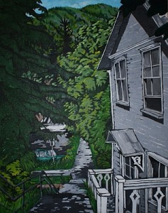 Nelson House, acrylic on canvas, 24 x 30 inches SOLD