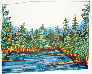 Beaver Lake, Sketch on paper, 2009