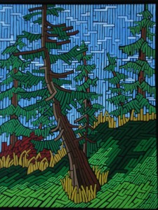 The Wonky Tree, 2009, acrylic on canvas, 16 x 20 inches