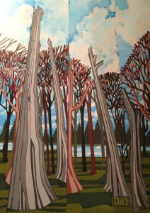 Deadheads of Lost Lagoon, acrylic on canvas, 30 x 40 inches, 2014 $1250.00 unframed