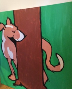 The original painting of a dog.